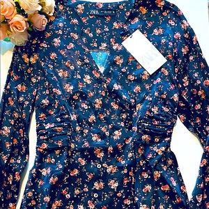 NWT ZARA Vintage Trendy vintage print dress 💓